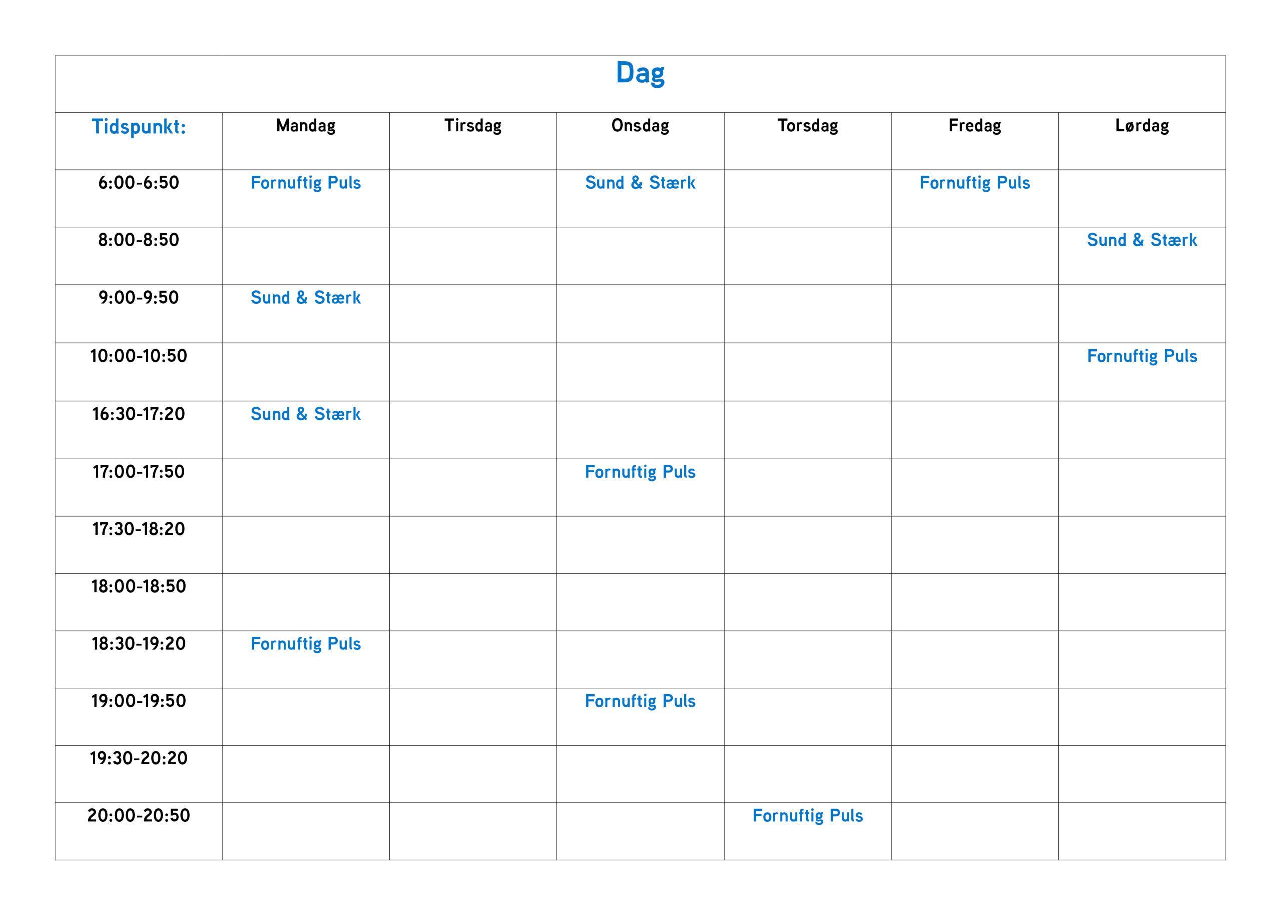 Her kan du se, hvilke hold der kører hvilke dage. vi opdaterer vores Holdplan løbene med nye hold.